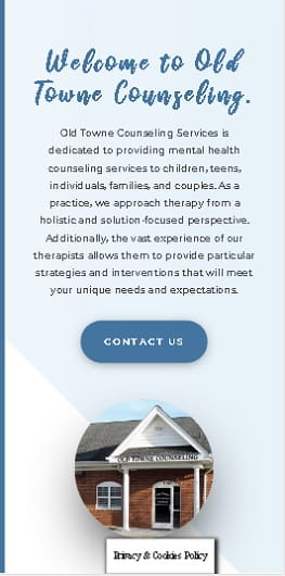 Old Towne Counseling New Mobile Website Design by The Styles Agency.