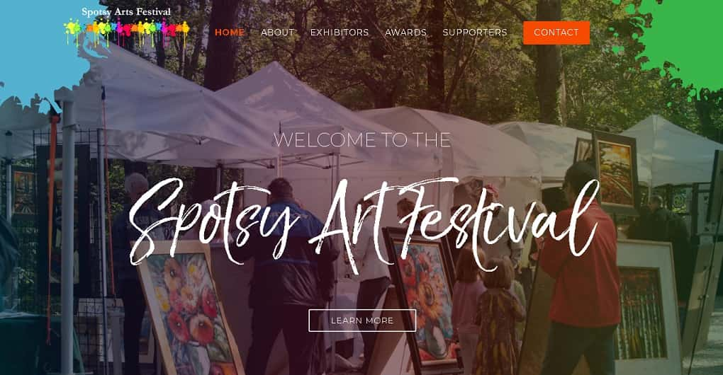 The Spotsy Arts Festival Website Before We Redesigned It.