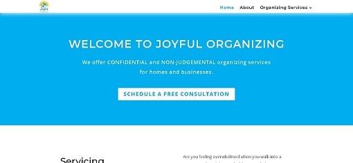 Joyful Organizing Website Design Desktop Version designed by The Styles Agency.