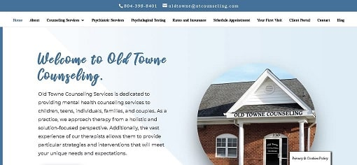 Old Towne Counseling New Website Design by The Styles Agency.
