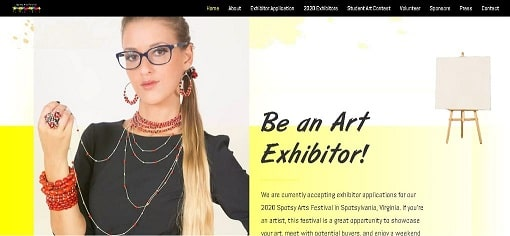 The Spotsy Arts Festival New Website Design by The Styles Agency.